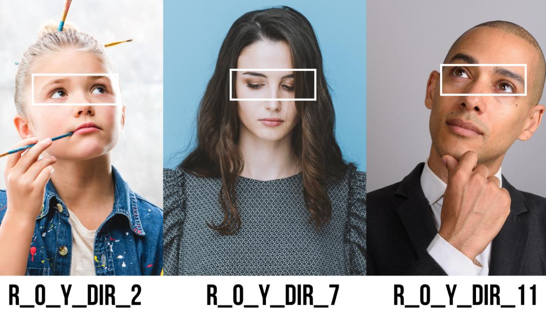 Les directions du regard  –  R_0_Y_DIR